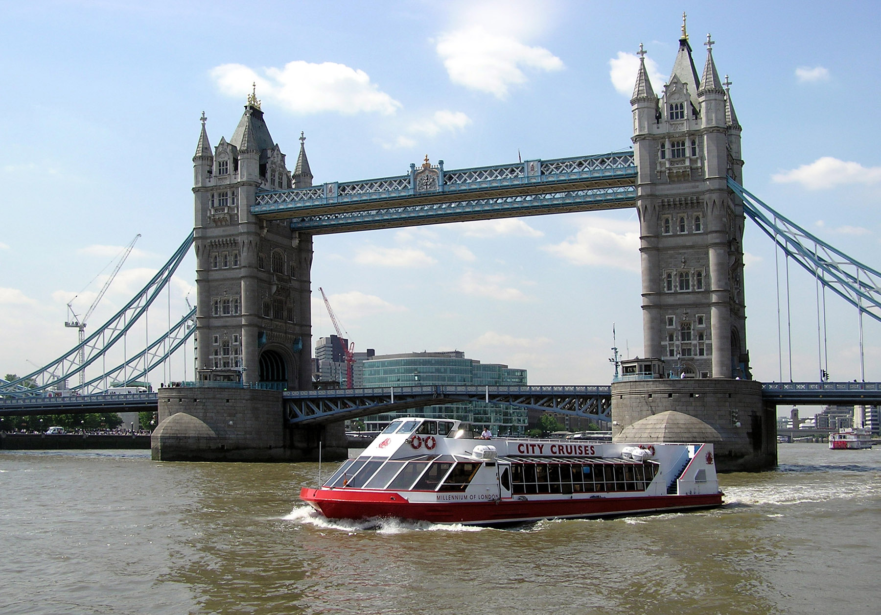 River Cruise on Thames near Tower Bridge
