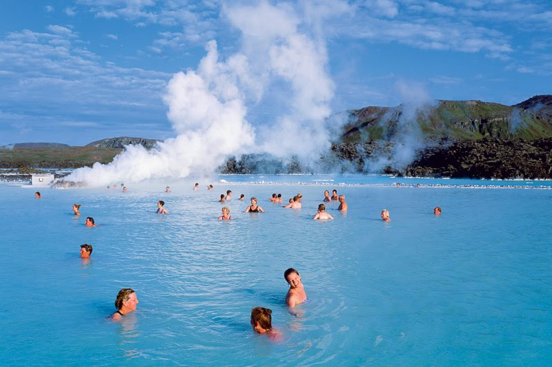 swimming at the Blue Lagoon Iceland