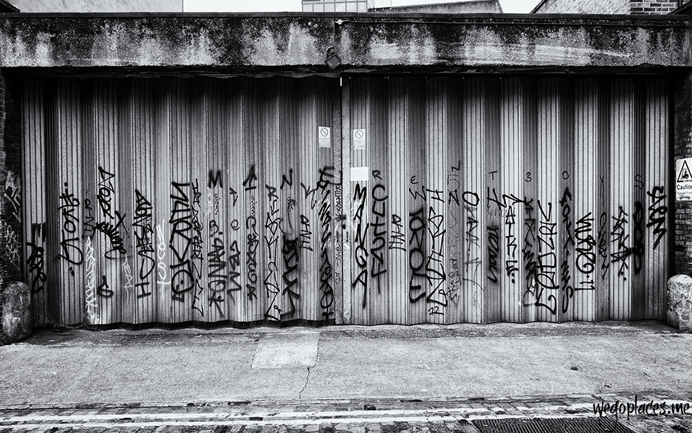 graffiti near Liverpool Street Station  in London