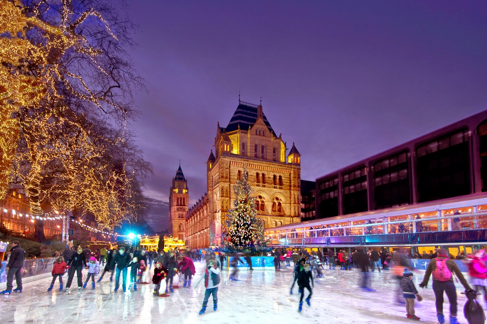 Ice rink at the National History Museum