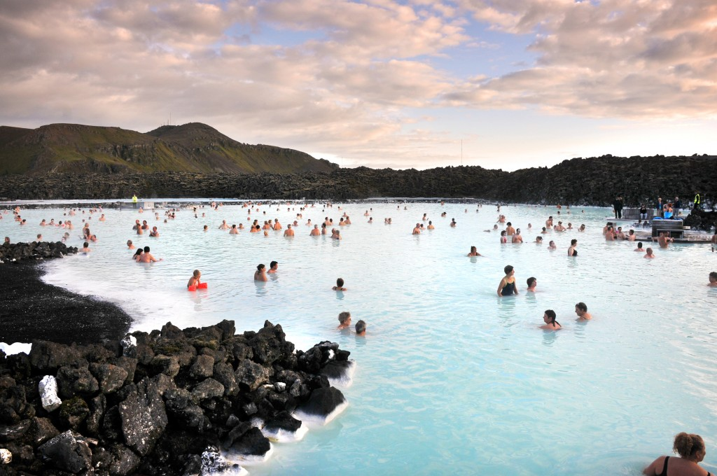 The Blue Lagoon Iceland, located outside of Reykjavik