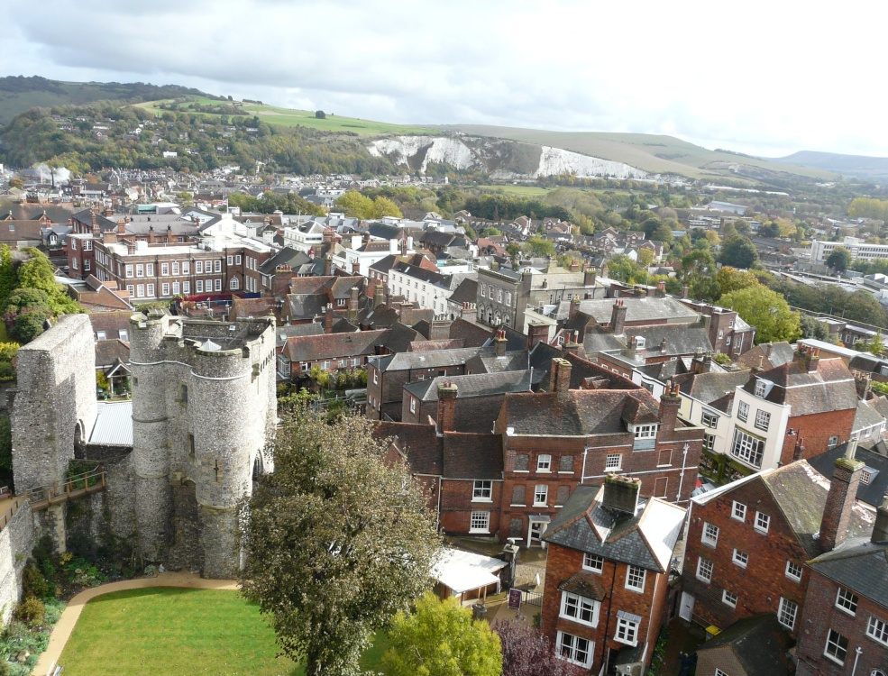 Castle and town of Lewes