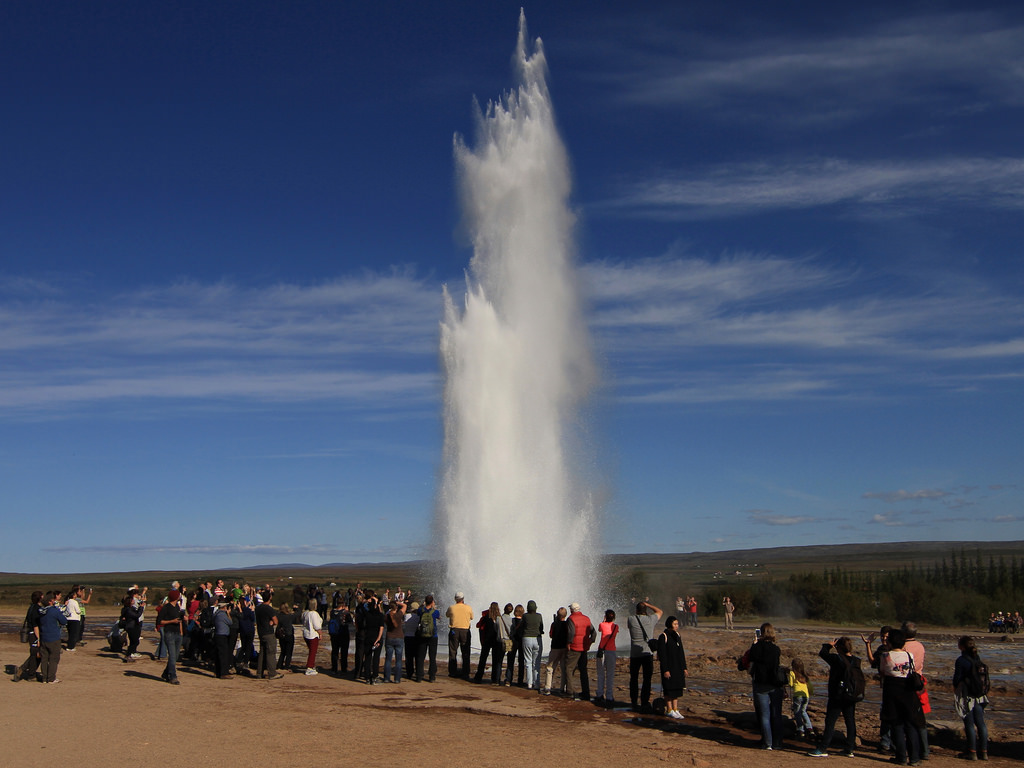 Strokkur Geyser in the Haukadalur Valley