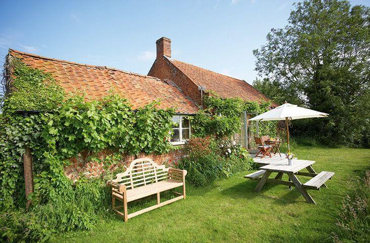 Acorn Cottage garden in Norfolk