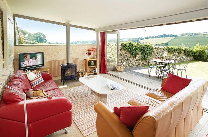 Sitting room at The Shippen in Membury, Devon