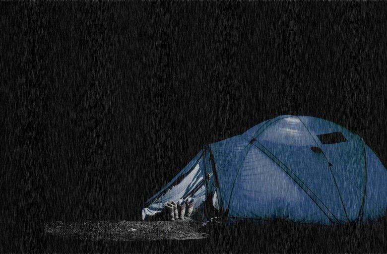 waterproof tents in rain