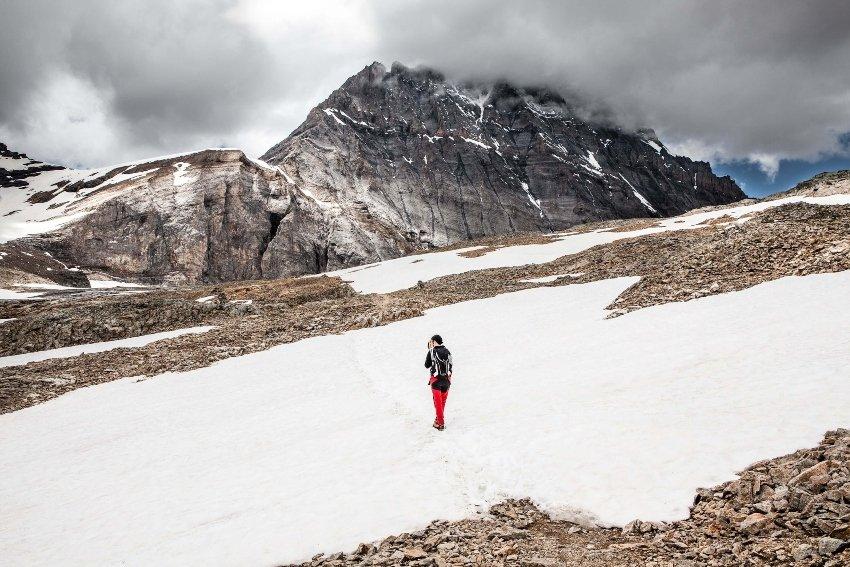 winter camp hike