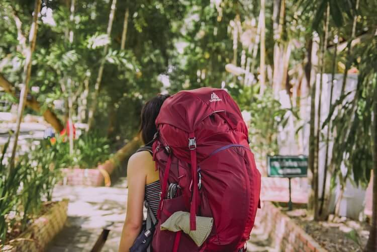 solo travel backpack