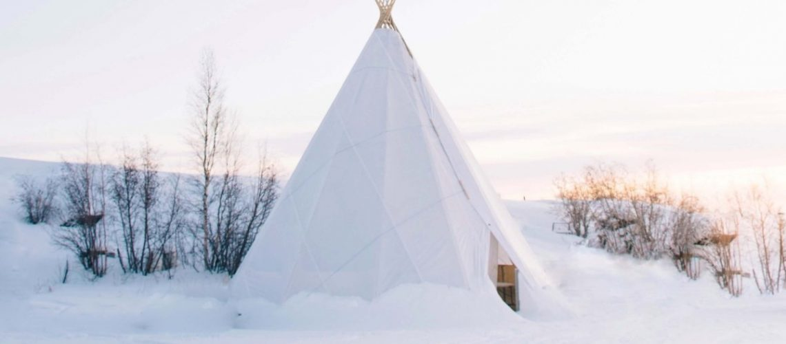winter tent with stove jack